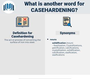 Casehardening, synonym Casehardening, another word for Casehardening, words like Casehardening, thesaurus Casehardening