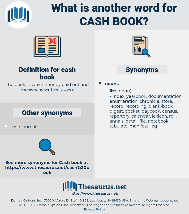 cash book, synonym cash book, another word for cash book, words like cash book, thesaurus cash book