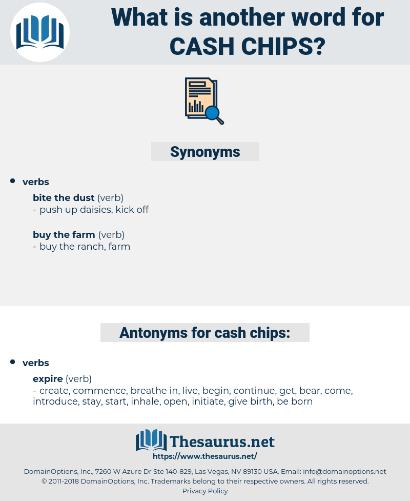 cash chips, synonym cash chips, another word for cash chips, words like cash chips, thesaurus cash chips