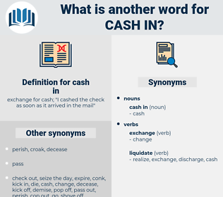 cash in, synonym cash in, another word for cash in, words like cash in, thesaurus cash in
