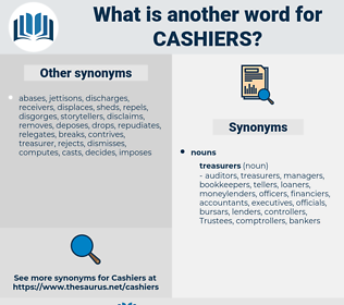 cashiers, synonym cashiers, another word for cashiers, words like cashiers, thesaurus cashiers