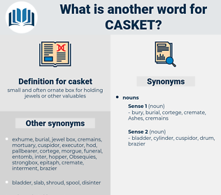 casket, synonym casket, another word for casket, words like casket, thesaurus casket