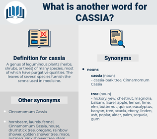 cassia, synonym cassia, another word for cassia, words like cassia, thesaurus cassia