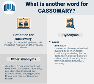cassowary, synonym cassowary, another word for cassowary, words like cassowary, thesaurus cassowary