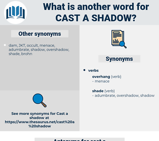 cast a shadow, synonym cast a shadow, another word for cast a shadow, words like cast a shadow, thesaurus cast a shadow