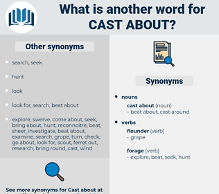 cast about, synonym cast about, another word for cast about, words like cast about, thesaurus cast about