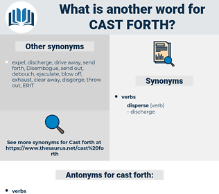 cast forth, synonym cast forth, another word for cast forth, words like cast forth, thesaurus cast forth