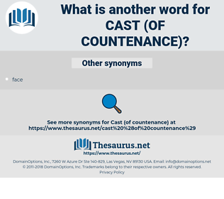 cast (of countenance), synonym cast (of countenance), another word for cast (of countenance), words like cast (of countenance), thesaurus cast (of countenance)