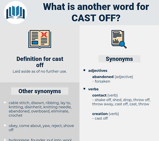 cast off, synonym cast off, another word for cast off, words like cast off, thesaurus cast off