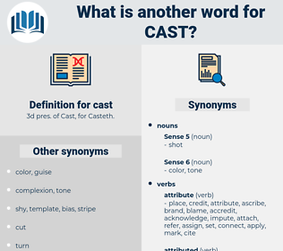 cast, synonym cast, another word for cast, words like cast, thesaurus cast