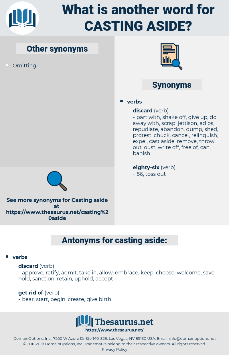 casting aside, synonym casting aside, another word for casting aside, words like casting aside, thesaurus casting aside