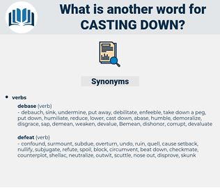 casting down, synonym casting down, another word for casting down, words like casting down, thesaurus casting down