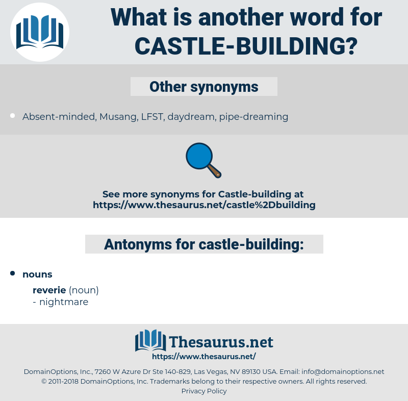 castle-building, synonym castle-building, another word for castle-building, words like castle-building, thesaurus castle-building