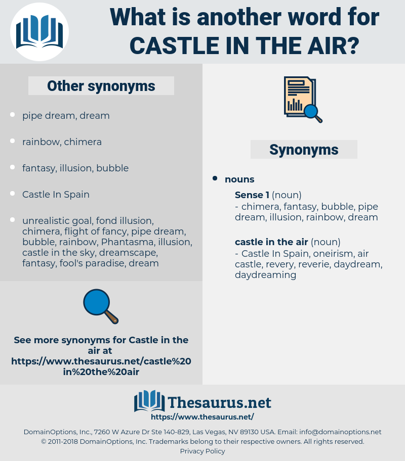 castle in the air, synonym castle in the air, another word for castle in the air, words like castle in the air, thesaurus castle in the air