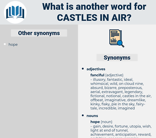 castles in air, synonym castles in air, another word for castles in air, words like castles in air, thesaurus castles in air