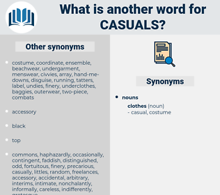 casuals, synonym casuals, another word for casuals, words like casuals, thesaurus casuals