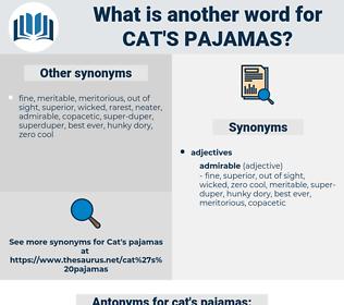 cat's pajamas, synonym cat's pajamas, another word for cat's pajamas, words like cat's pajamas, thesaurus cat's pajamas