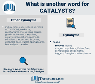 catalysts, synonym catalysts, another word for catalysts, words like catalysts, thesaurus catalysts