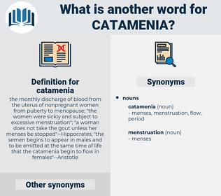 catamenia, synonym catamenia, another word for catamenia, words like catamenia, thesaurus catamenia