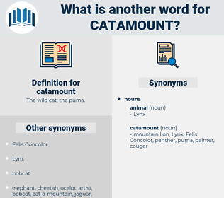catamount, synonym catamount, another word for catamount, words like catamount, thesaurus catamount