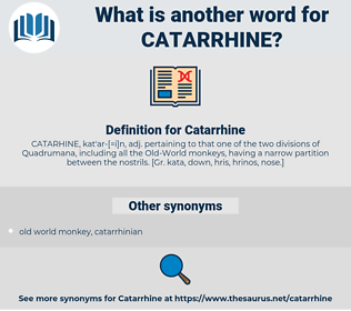 Catarrhine, synonym Catarrhine, another word for Catarrhine, words like Catarrhine, thesaurus Catarrhine