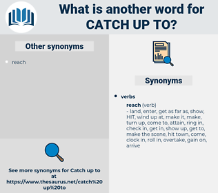 catch up to, synonym catch up to, another word for catch up to, words like catch up to, thesaurus catch up to