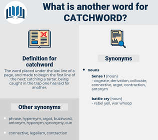 catchword, synonym catchword, another word for catchword, words like catchword, thesaurus catchword