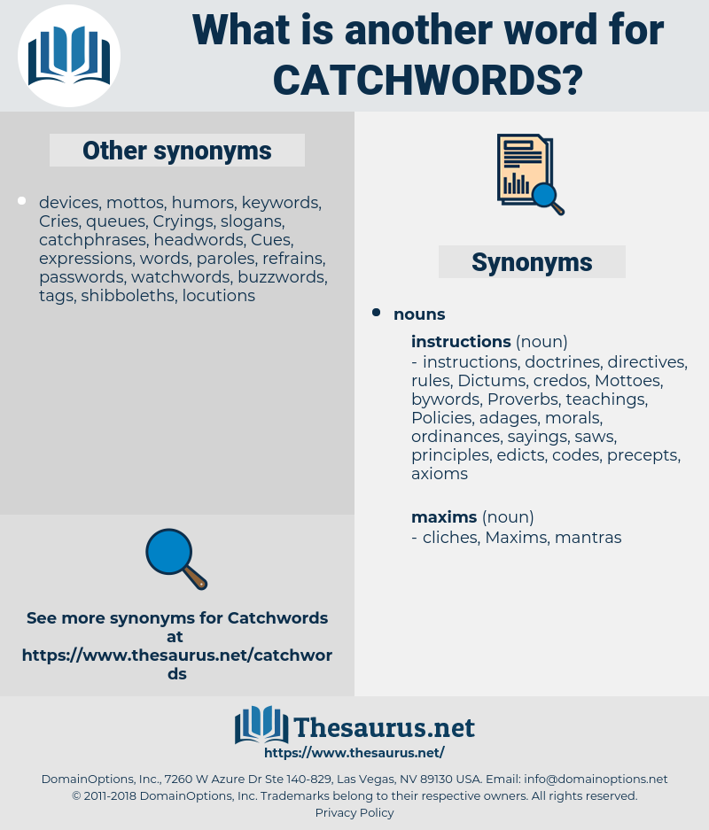 catchwords, synonym catchwords, another word for catchwords, words like catchwords, thesaurus catchwords