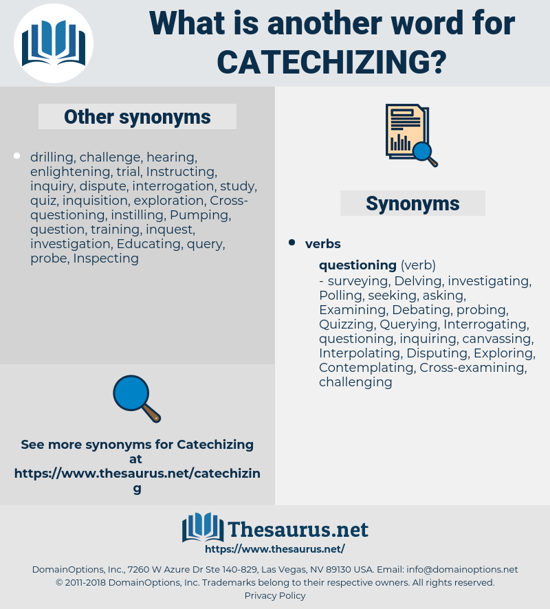 catechizing, synonym catechizing, another word for catechizing, words like catechizing, thesaurus catechizing