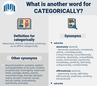 categorically, synonym categorically, another word for categorically, words like categorically, thesaurus categorically
