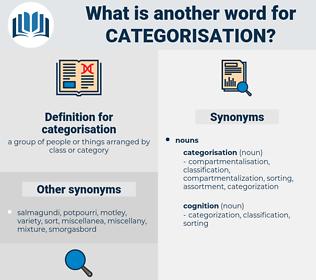 categorisation, synonym categorisation, another word for categorisation, words like categorisation, thesaurus categorisation