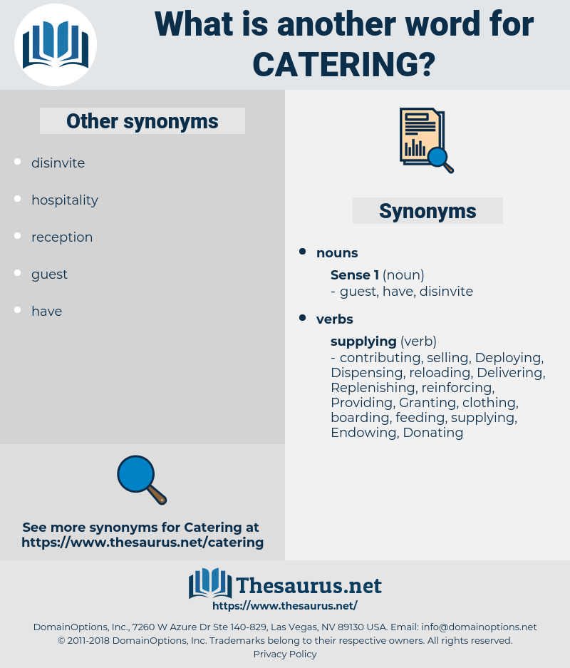 catering, synonym catering, another word for catering, words like catering, thesaurus catering