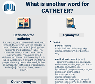 catheter, synonym catheter, another word for catheter, words like catheter, thesaurus catheter
