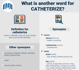 catheterize, synonym catheterize, another word for catheterize, words like catheterize, thesaurus catheterize