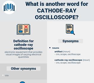 cathode-ray oscilloscope, synonym cathode-ray oscilloscope, another word for cathode-ray oscilloscope, words like cathode-ray oscilloscope, thesaurus cathode-ray oscilloscope