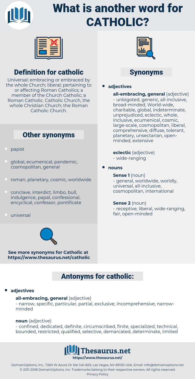 catholic, synonym catholic, another word for catholic, words like catholic, thesaurus catholic