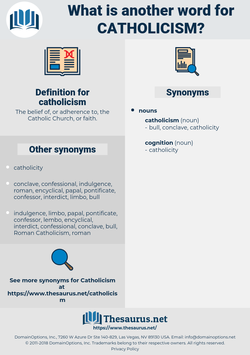 catholicism, synonym catholicism, another word for catholicism, words like catholicism, thesaurus catholicism