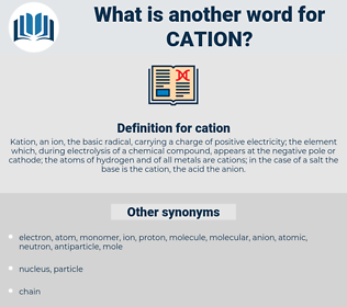 cation, synonym cation, another word for cation, words like cation, thesaurus cation