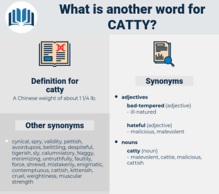 catty, synonym catty, another word for catty, words like catty, thesaurus catty