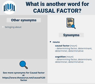 causal factor, synonym causal factor, another word for causal factor, words like causal factor, thesaurus causal factor
