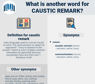 caustic remark, synonym caustic remark, another word for caustic remark, words like caustic remark, thesaurus caustic remark