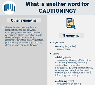 Cautioning, synonym Cautioning, another word for Cautioning, words like Cautioning, thesaurus Cautioning
