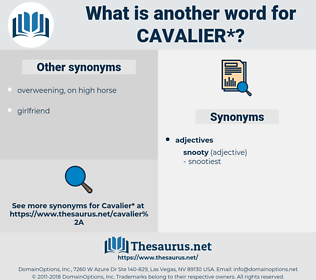 cavalier, synonym cavalier, another word for cavalier, words like cavalier, thesaurus cavalier