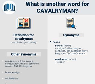 cavalryman, synonym cavalryman, another word for cavalryman, words like cavalryman, thesaurus cavalryman