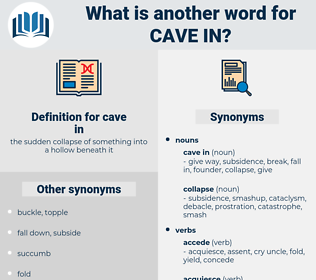cave in, synonym cave in, another word for cave in, words like cave in, thesaurus cave in