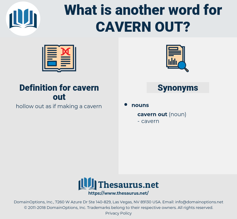 cavern out, synonym cavern out, another word for cavern out, words like cavern out, thesaurus cavern out
