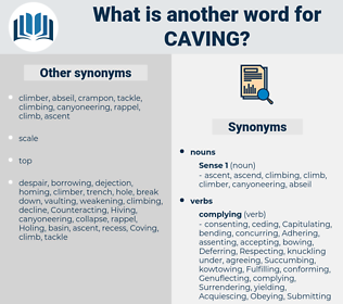 Caving, synonym Caving, another word for Caving, words like Caving, thesaurus Caving