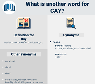 cay, synonym cay, another word for cay, words like cay, thesaurus cay