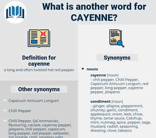 cayenne, synonym cayenne, another word for cayenne, words like cayenne, thesaurus cayenne