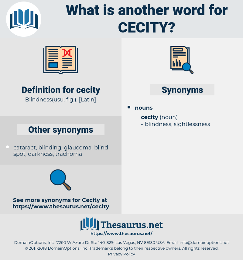 cecity, synonym cecity, another word for cecity, words like cecity, thesaurus cecity
